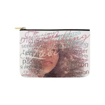 Levi Thang Face Vintage Letters Carry-All Pouch 9.5''x6''