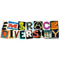 Embrace Diversity Bumper Sticker