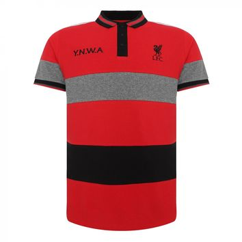 Liverpool FC  Striped Polo Shirt