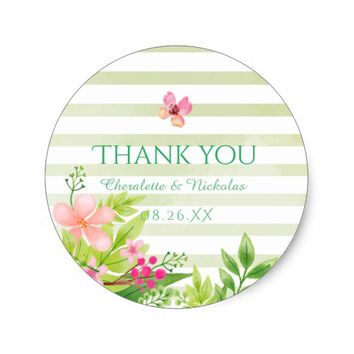 Watercolor Flowers | Wedding Sticker