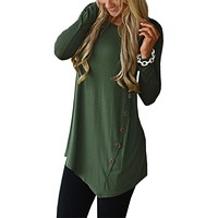 Long Sleeve Loose Tunic Shirt