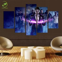 (No Frame)5 Panels Canvas Oil Painting Wall Art Paint Children's Room Decor Suicide Squad Poster Prints On Canvas Modern Picture