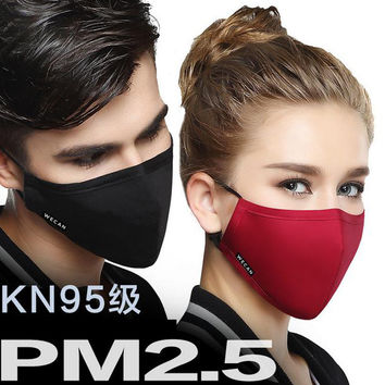 NEW ARRIVE 100% Cotton Mouth Mask Anti-Dust Cloth Surgical  Mask Respirator with filter Cloth 2 piece