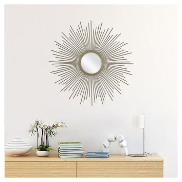 Sunburst Decorative Wall Mirror - Metal Gold - Threshold™
