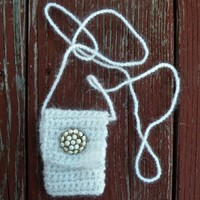Snowfall - A Handmade Spirit Pouch Made with Seasonal Love
