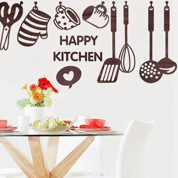 Creative Kitchen Cooking Utensil Spatula Vinyl Removable Wall Decal Decor Paster