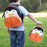 Skip Hop Zoo Backpack and Lunchie- Penguin