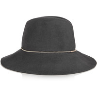 Eugenia Kim - Farrah chain-embellished rabbit-felt hat