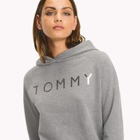 Tommy Hilfiger Silver Logo Women Fashion Pullover Hoodie-1