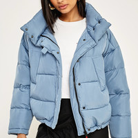 Light Before Dark Blue Pillow Puffer Jacket | Urban Outfitters