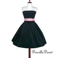 Little Black Party Dress Custom in your size by priscilladawn