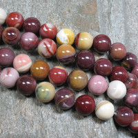 Mookaite Beads, 10 mm - Full strand - Item B0831
