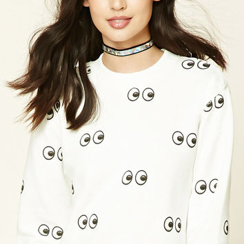 Eyes Fleece Sweatshirt