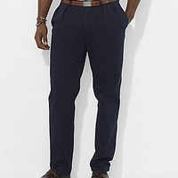 Polo Ralph Lauren Big & Tall Classic-Fit Pleated Chino Pants - Aviator