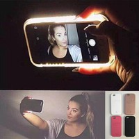 hot cool led light selfie phone case for iphone x 8 7 plus iphone 6s 6 plus light selfie led cover gift box  number 1
