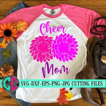 Cheer Mom pom pom svg, cheer mom svg, cheerleader svg, football SVG, cheerleader cut file, football mom SVG, svg for cricut, eps,dxf