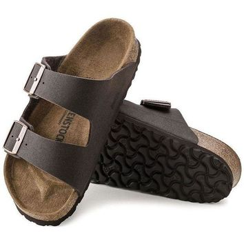 LMFNW6 Sale Birkenstock Arizona Microfiber Cocoa Brown 0652391/0652393 Sandals