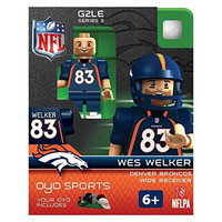 Wes Welker Nfl Denver Broncos Football Oyo Mini Figure Lego Compatible New G2
