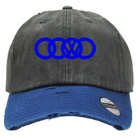 Volkswagen dope Embroidered Distressed Baseball