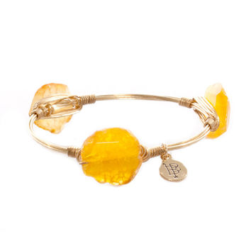 Bourbon & Bowteies Citrus Faceted Rock Bangle