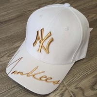 MLB 2019 new signature men and women models wild baseball cap white