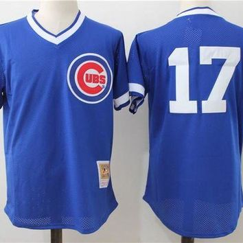 ONETOW Mitchell & Ness Ryne Sandberg Chicago Cubs Kris Bryant Authentic Collection Throwback Replica Jersey - Royal Blue