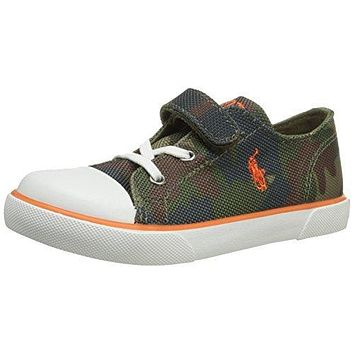 Polo Ralph Lauren Kids Carson EZ Army Sneaker Shoes