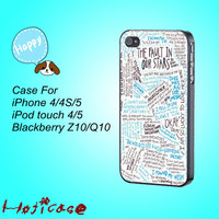 iphone 4 case,iphone 4s case,iphone 4 cases,iphone 5 case,The Fault in Our Stars,in plastic,silicone,cute ipod 4 case,cute ipod 5 case.