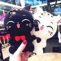 Kawaii Cat Silicone Phone Case