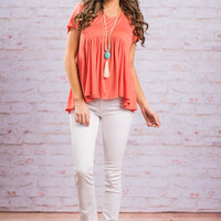 A Day For Bliss Top, Coral