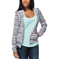 Zine Girls Tribal Print White Windbreaker Jacket at Zumiez : PDP