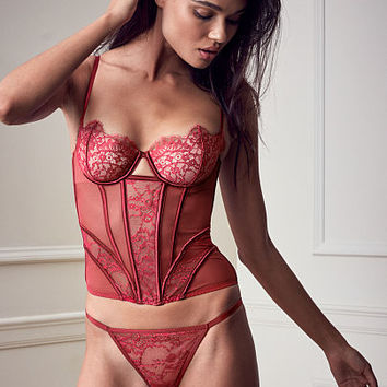 Lace & Mesh Corset - Very Sexy - Victoria's Secret
