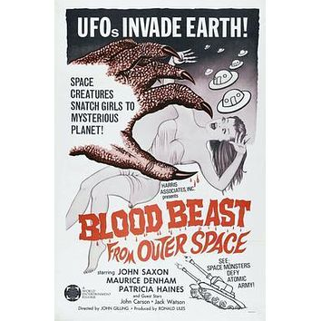 Blood Beast From Outer Space Movie poster Metal Sign Wall Art 8in x 12in
