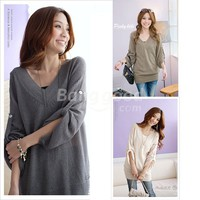 New Fashion Korea Women's Outwear V-Neck Sweater 5918 Free Shipping!  - US$21.99