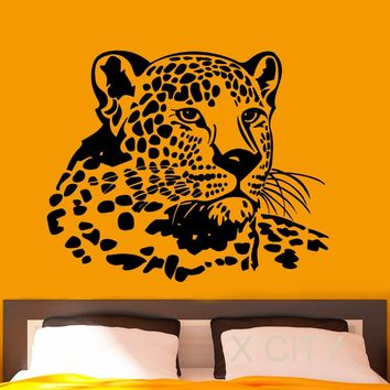 Leopard Wall Decal Vinyl Stickers Wild African Animals Home Interior Design Art Office Murals Lving Room Decor