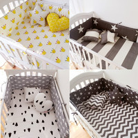 Muslinlife(1pcs bumper only)Fashion hot crib bumper infant bed,baby bed bumper clauds/star/dot/tree,safe protection for baby use