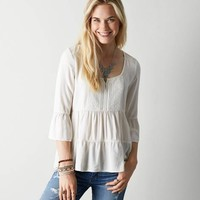 AEO TIERED RUFFLE SHIRT