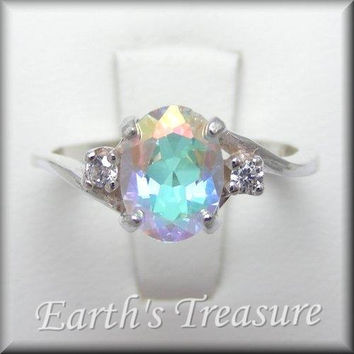 choose mystic white gemstone cz a rings gold round ring topaz fire oval