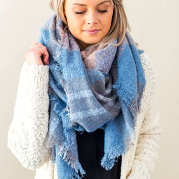 Sips And Slopes Scarf-Blue