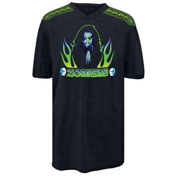 PEAPGQ9 Rob Zombie - Praying Flames Football Jersey