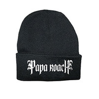 Papa Roach Distressed band Logo Official New Black Beanie Hat