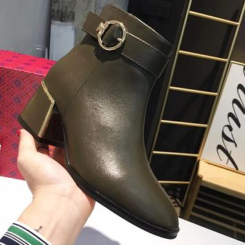 Tory Burch Women Fashion Leather Boots Shoes