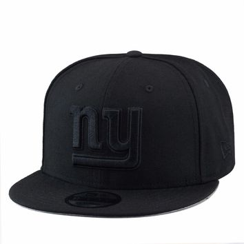 New Era New York NY Giants NFL Snapback Hat Cap All Black/Black