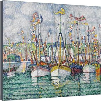 Blessing of the Tuna Fleet at Groix, 1923 Stretched Canvas Print by Paul Signac at Art.com