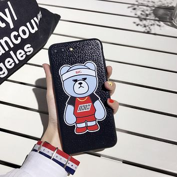 Personality Cute Cartoon Bear Apple iPhone 6/6s Plus Silica Gel Soft Shell iPhone 7 Couple Phone Case