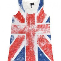 White Great Britain Flag Vest