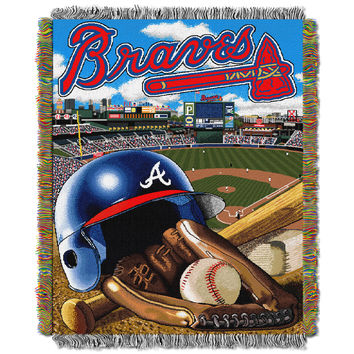 "Braves  """"Home Field Advantage"""" 48x60 Tapestry Throw"