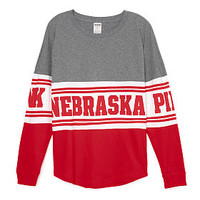 University of Nebraska Bling Varsity Crew - PINK - Victoria's Secret