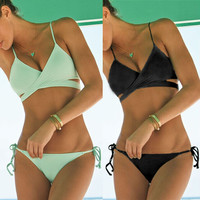 Bandage Swimwear Bathing Suits Sexy Push Up Bikini Vintage Monokini
