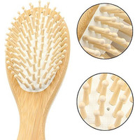 Aisilk Warranty,8.7inch Wooden Bamboo Hair Vent Brush Brushes Keratin Care and Beauty SPA Massager Massage Comb,Made from Natural Cherry Wood